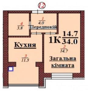 кв 12 1К 34.0 мкв