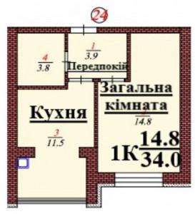 кв 24 1К 34.0 мкв