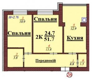 кв 26 2К 51.7мкв