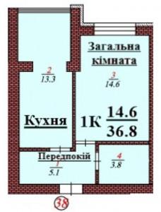 кв 38 1К 36.8мкв