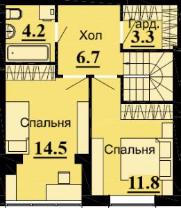 №55 3К 81.4 м2 (2 уровень)