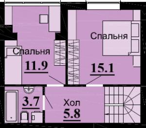 №56 3К 76.6 м2 (2 уровень)