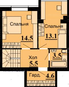 №57 3К 81.8м2 (2 уровень)